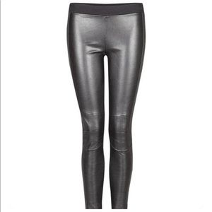 Black Tape | Vegan Leather Moto Leggings | Medium